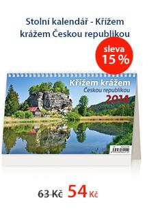Stolní kalendář 2014 - Křížem krážem Českou republikou