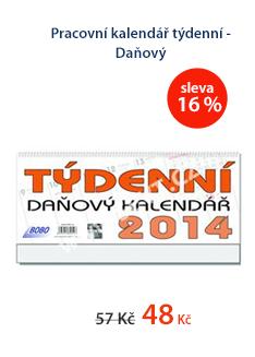 Pracovní kalendář 2014 týdenní - Daňový