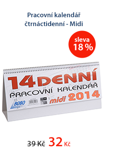 Pracovní kalendář 2014 čtrnáctidenní - Midi