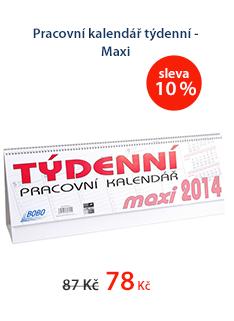 Pracovní kalendář 2014 týdenní - Maxi