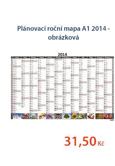 Plánovací roční mapa A1 2014 - obrázková