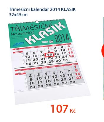 Tříměsíční kalendář 2014 KLASIK 32x45cm