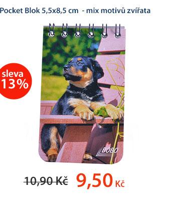 Pocket Blok 5,5x8,5 cm - mix motivů zvířata