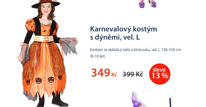 Karnevalový kostým s dýněmi, vel. L