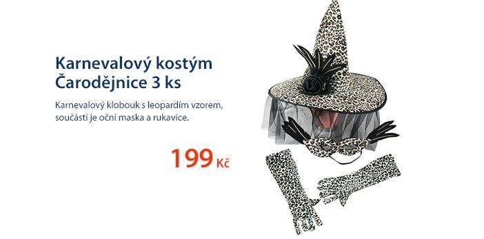 Karnevalový kostým Čarodějnice 3 ks