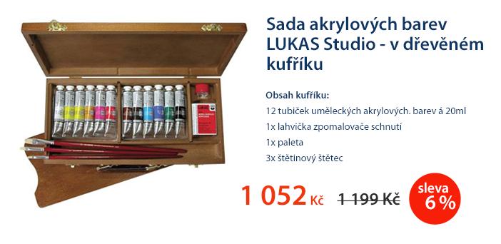 Sada akrylových barev LUKAS Studio - v dřevěném kufříku