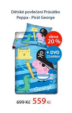Dětské povlečení Prásátko Peppa - Pirát George 140 x 200 cm