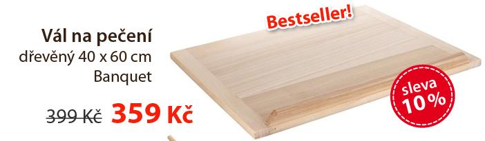 Vál na pečení dřevěný 40 x 60 cm Banquet