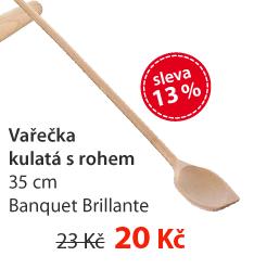 Vařečka kulatá s rohem 35 cm Banquet Brillante