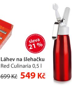 Láhev na šlehačku Red Culinaria 0,5L
