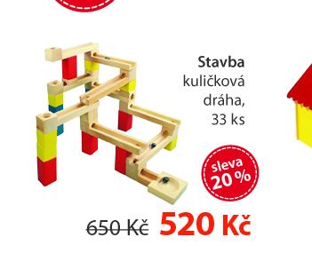Stavba - kuličková dráha, 33 ks