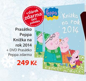 Prasátko Peppa - Knížka na rok 2014 + DVD Prasátko Peppa zdarma