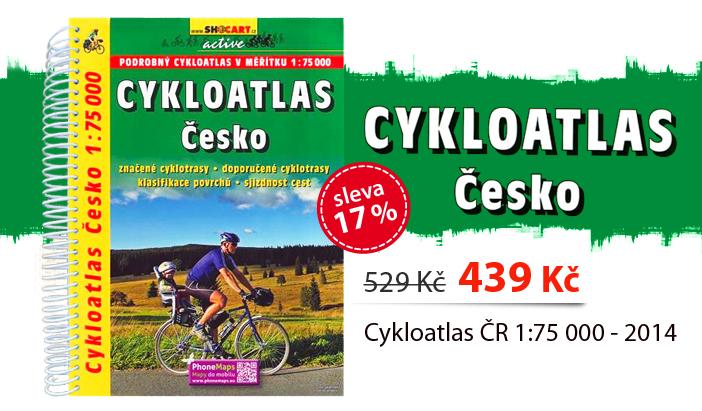 Cykloatlas ČR 1:75 000 - 2014