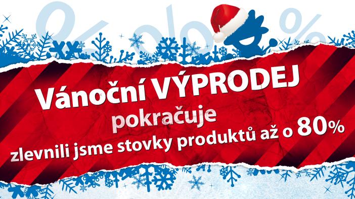 Vánoční VÝPRODEJ pokračuje - zlevnili jsme stovky produktů až o 80 %