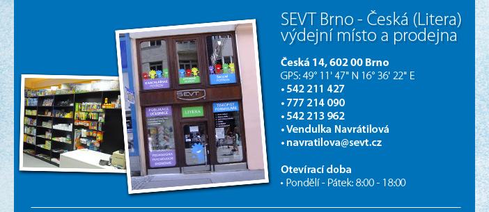 SEVT Brno - Česká - výdejní místo a prodejna