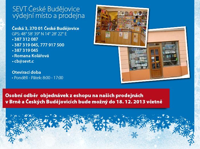 SEVT České Budějovice - výdejní místo a prodejna