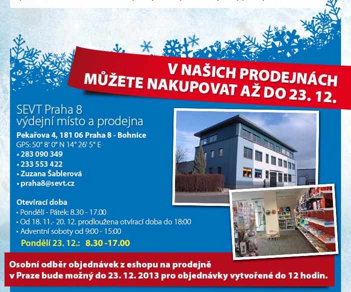 SEVT Praha 8 - výdejní místo a prodejna